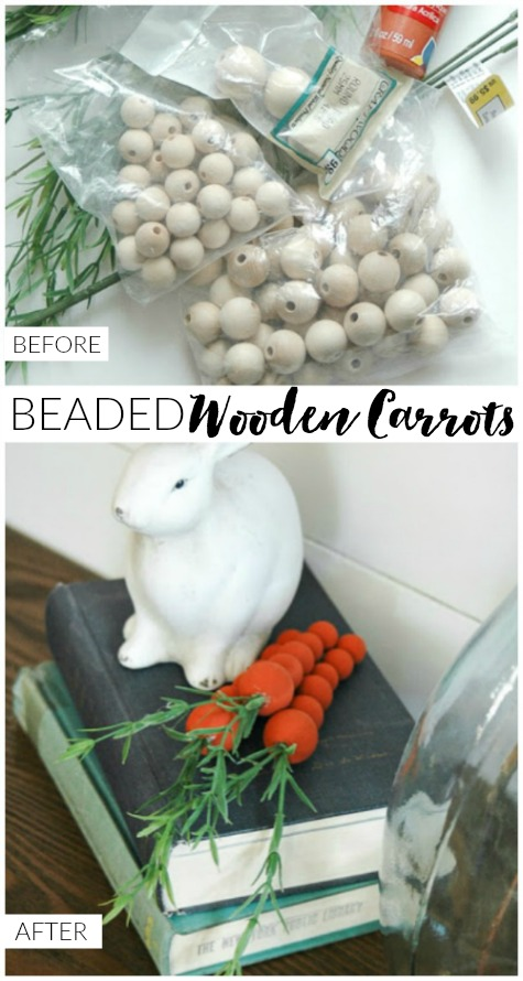 Wooden beaded carrots