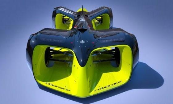 O Robocar, e foi criado pelo designer Daniel Simon, conhecido por ter participado da concepção visual de filmes futuristas como Oblivion (2013) e Tron: O Legado (2010)