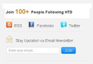 social media subscription form