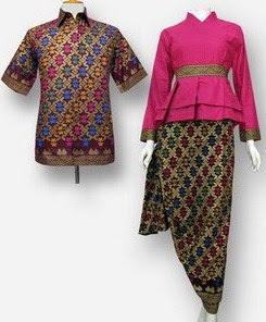 Model Baju Batik Pesta modern