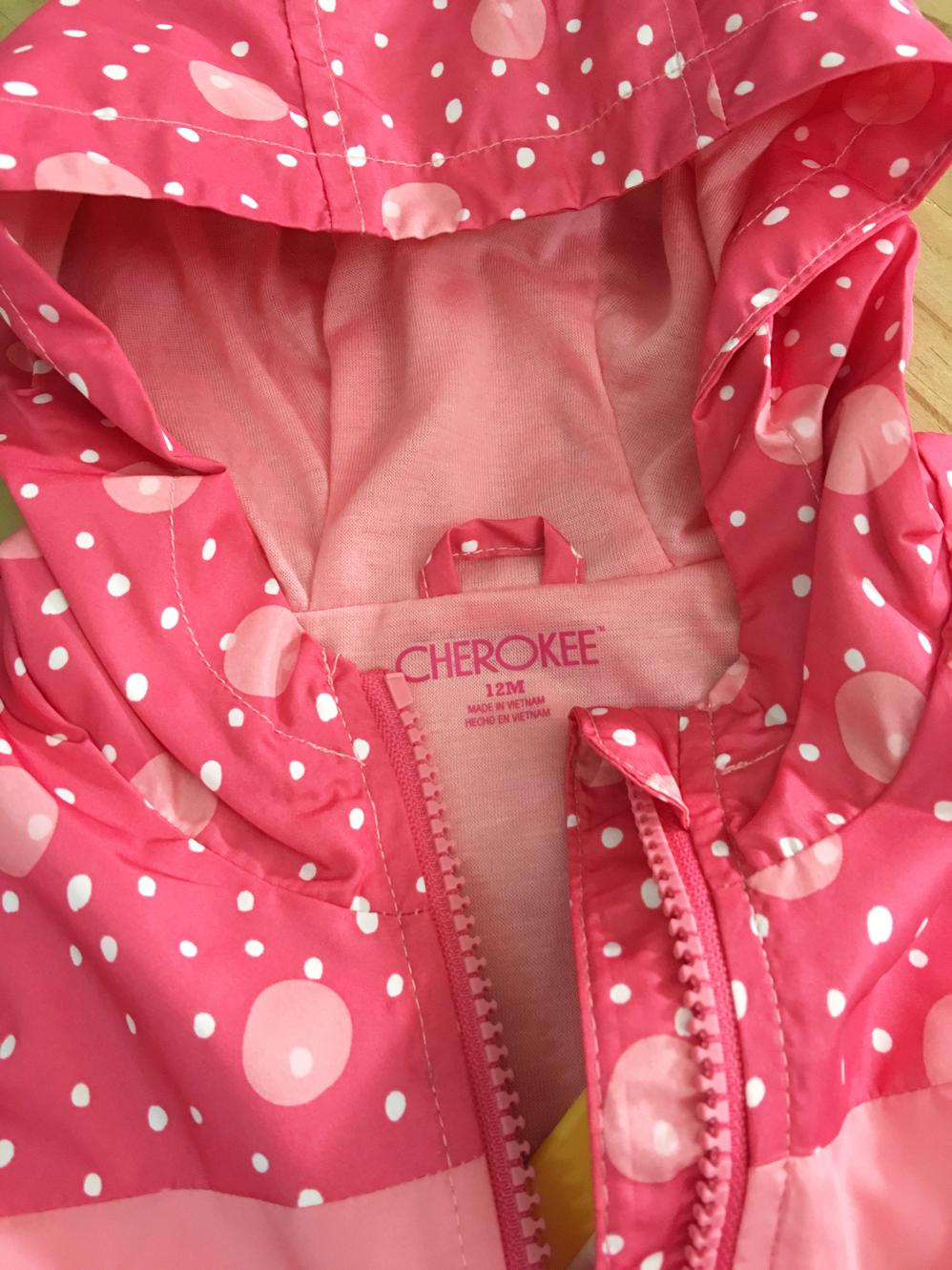 Áo khoác gió bé gái, hiệu Cherokee, xuất xịn, made in vietnam.