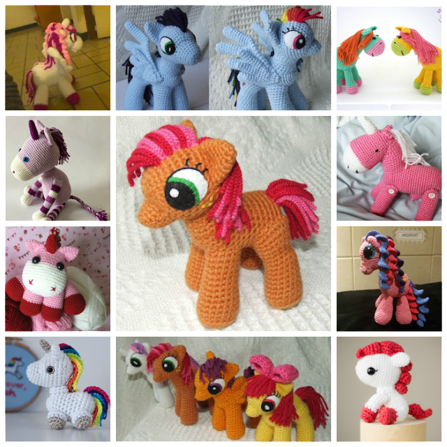 Unicornios y Ponys amigurumis, los mejores patrones gratuitos ...