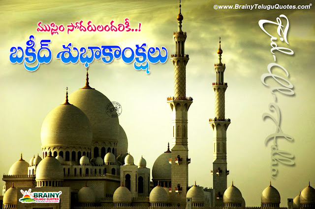 bakrid hd wallpapers quotes greetings, best bakrid messages quotes greetings in telugu