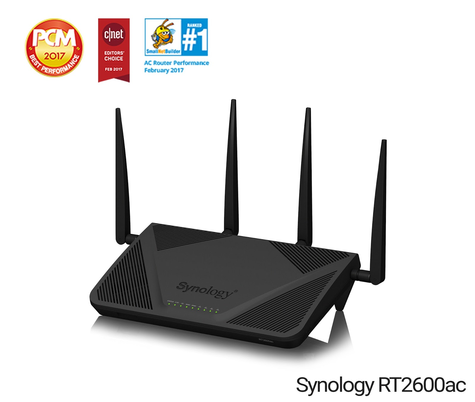 Synologys router rt2600ac delivers secure fast speed connectivity april 18 2018 synologys rt2600ac router named best wireless router of 2017 by cnet and best performing ac router by smallnetbuilder solutioingenieria Gallery
