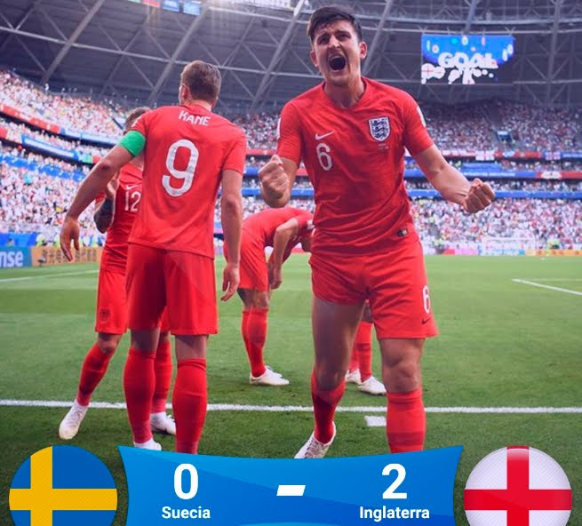 L'Inghilterra si qualifica alla semifinale di Mosca: 2-0 alla Svezia | Mondiali Calcio Russia 2018.