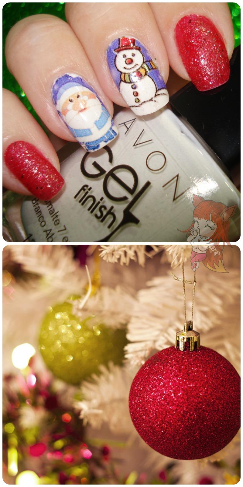 Esmalte Anita Dance Musica + Avon Branco Absoluto - Especial de Natal