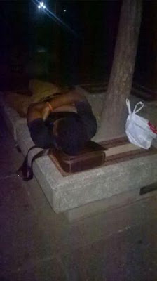3 Photos: UNILAG students sleep outside in the rain
