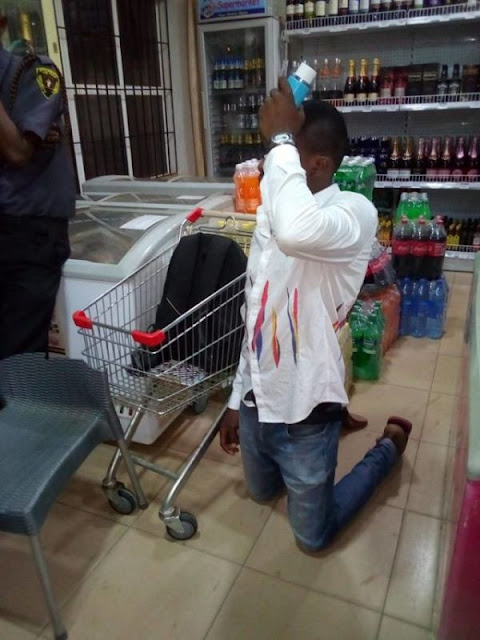Nigerian Man Disgraced For Allegedly Stealing N4k Worth Of Perfume For His Girlfriend On Val Day