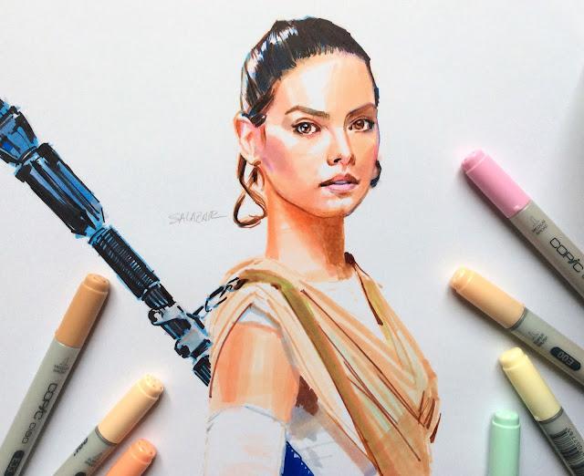 Copic Marker dibujo de Rey Star Wars