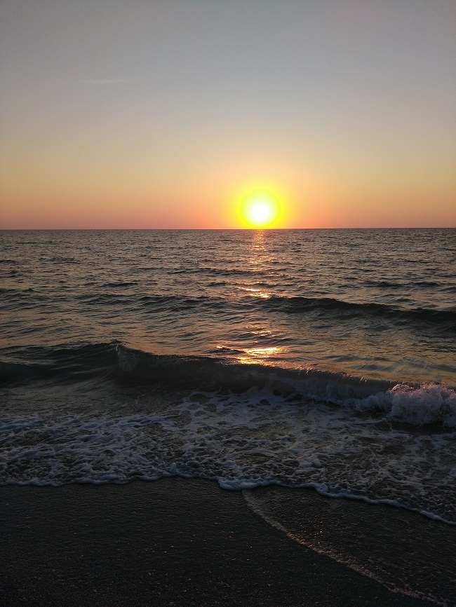 sunset at St. Pete beach
