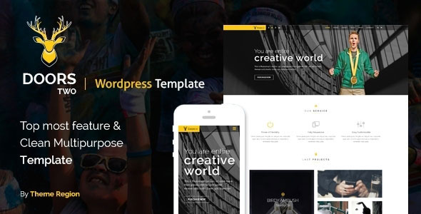 Free Download Doors Two - Multipurpose WordPress Theme