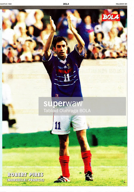 ROBERT PIRES FRANCE WORLD CUP 1998
