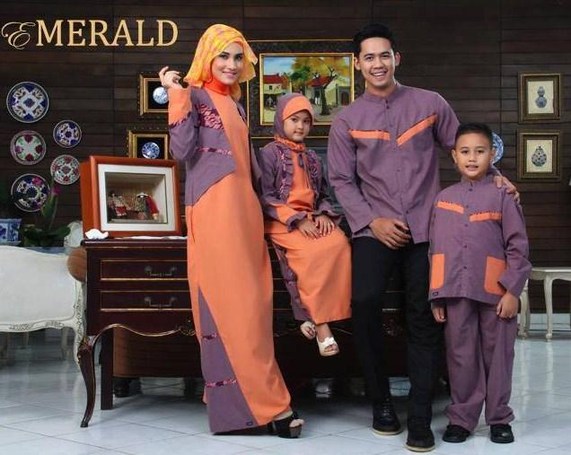 Desain Baju Muslim Couple Keluarga Terbaru