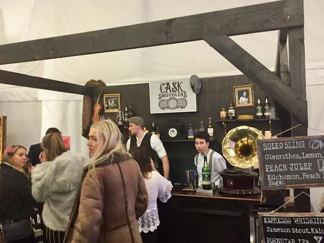The Cask Smugglers pop up bar at Edinburgh Cocktail Village