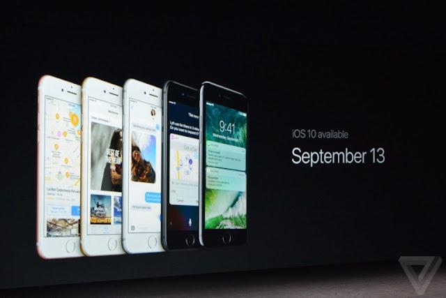 إطلاق إصدار iOS 10 للآيفون والآيباد والآيبود رسميا يوم 13 سبتمبر