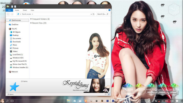 Windows 10 Ver. 1803 Theme Krystal Jung by Enji Riz