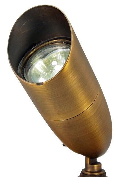 5 Pack Brass 12v Spotlight Landscape Lighting Bullet With