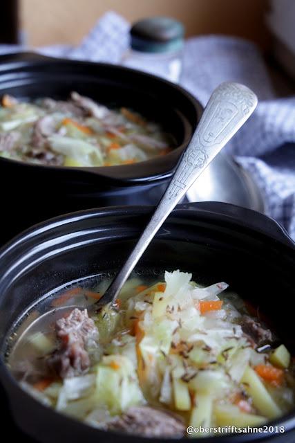 Suppe mit Weißkraut