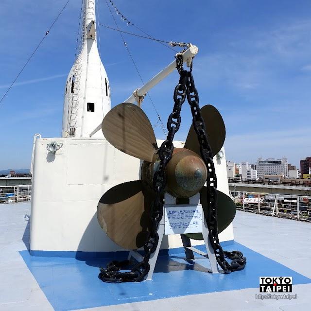 【摩周丸】停靠在函館港邊 展示青函連絡船80年歷史的博物館