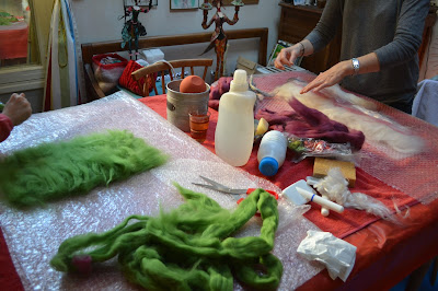 stage initiation laine feutrée de Alice et Aude chez factory Cathy