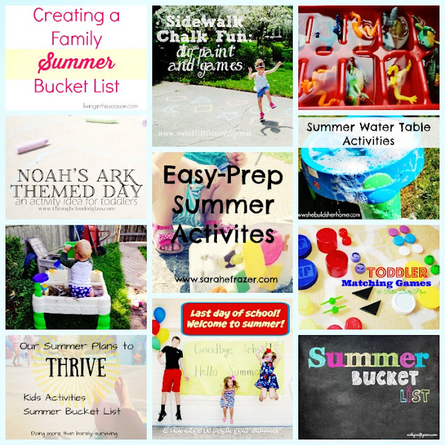 11 Summer Fun Activities for Kids: Sidewalk Chalk Paint and Games, Water Table Activities, Noah's Ark Themed Day, and Many More! - www.sweetlittleonesblog.com
