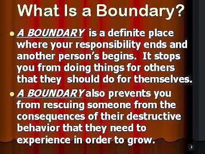 the term marriage should have no boundaries Set appropriate boundaries in the excellent book, boundaries—when to say yes, when to say no to take control of your life, dr henry cloud and dr john townsend, explain how and when to set appropriate, biblical boundaries.