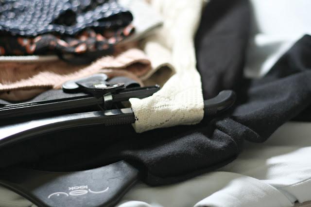 Kon Mari method clothes pile
