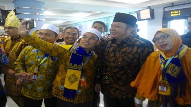 Herman Deru Resmikan Penerbangan Palembang - Jeddah dan Palembang -  Madinah