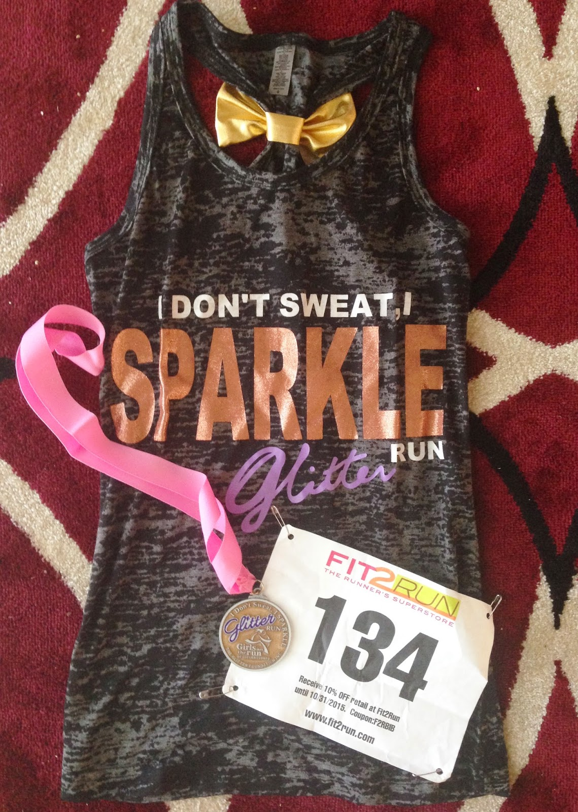 Hit the ground running i don 39 t sweat i sparkle glitter 5k for I run for meg shirts