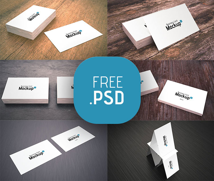 6 Business Card Mockups