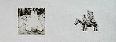 Caballito - grabado aguafuerte, edición para Kunst in de Stad, de Patricia Delgado