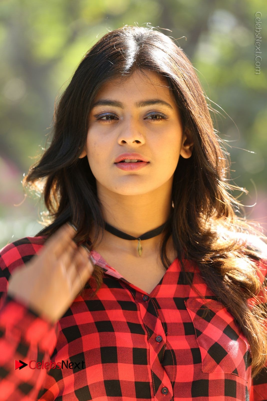 Hebah Patel Stills in Blue Denim Jeans at Nanna Nenu Naa Boyfriends Movie Success Meet