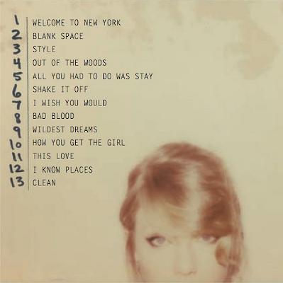 Taylor Swift album 1989 setlist