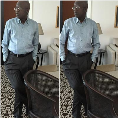 Bola Tinubu poses stylishly for photo