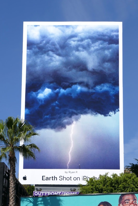 Earth Shot on iPhone Ryan P Lightning billboard