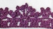 Patrón #1420: Puntilla a Crochet