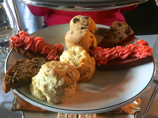 Scone platter for afternoon tea in The Witchery by the Castle, Edinburgh
