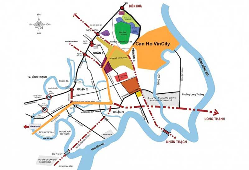 Vị trí dự án căn hộ chung cư Vincity Quận 9