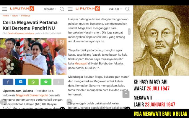 Cerita Megawati Pertama Kali Bertemu Pendiri NU Bikin Heboh Netizen: KH Hasyim Asy'ari Itu Wafat 1947