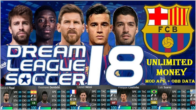Download DLS 2018 MOD APK FC Barcelona Data Game