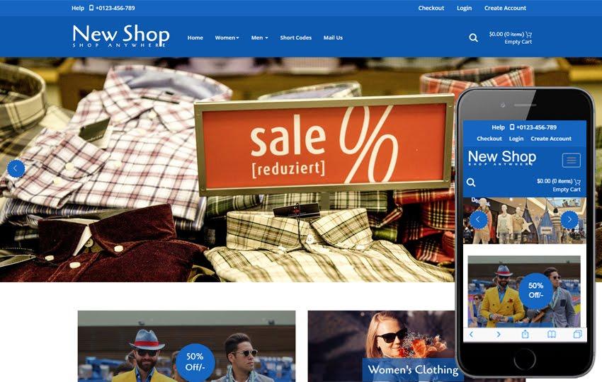 E-Commerce Free Web Template 9 - New Shop E-commerce template