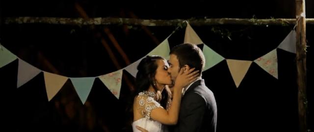 bandeirolas no casamento