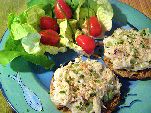 Crab Salad Plate Completed