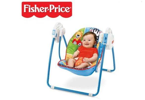 Kids' Corner: Fisher Price Animals Open Top Take-Along swing