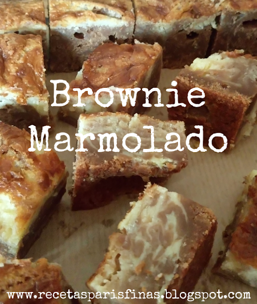 Brownie Marmolado de Chocolate y Queso Mascarpone