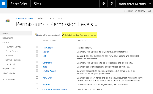 sharepoint remove permission level powershell