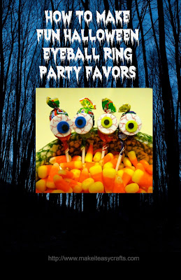 Halloween eyeball ring party favor
