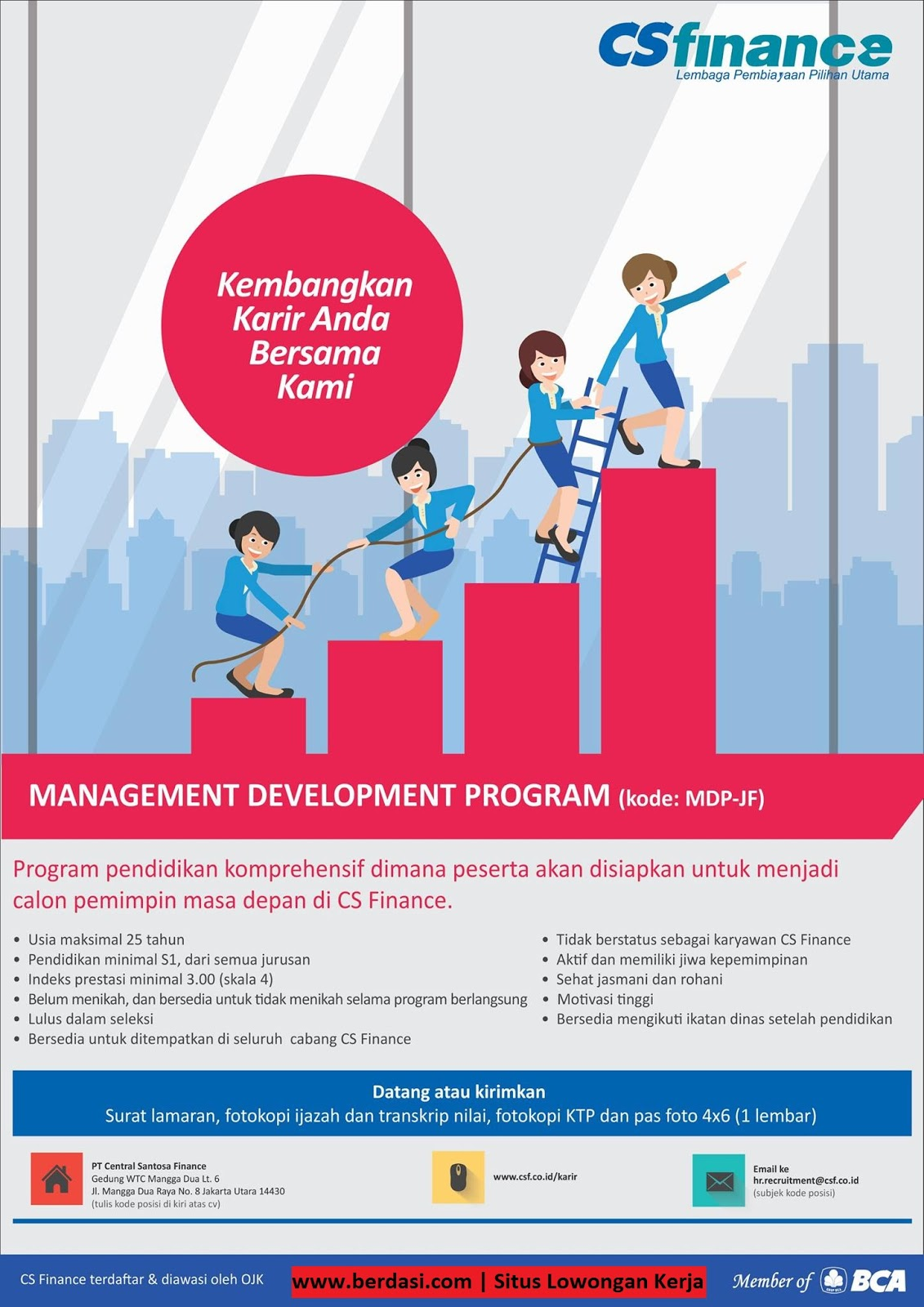 Informasi Lowongan Kerja PT.Central Santosa Finance Terbaru