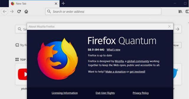 موزيلا فايرفوكس 58.0 الكمومى متاح الآن للتحميل للويندوز ولينكس وماك