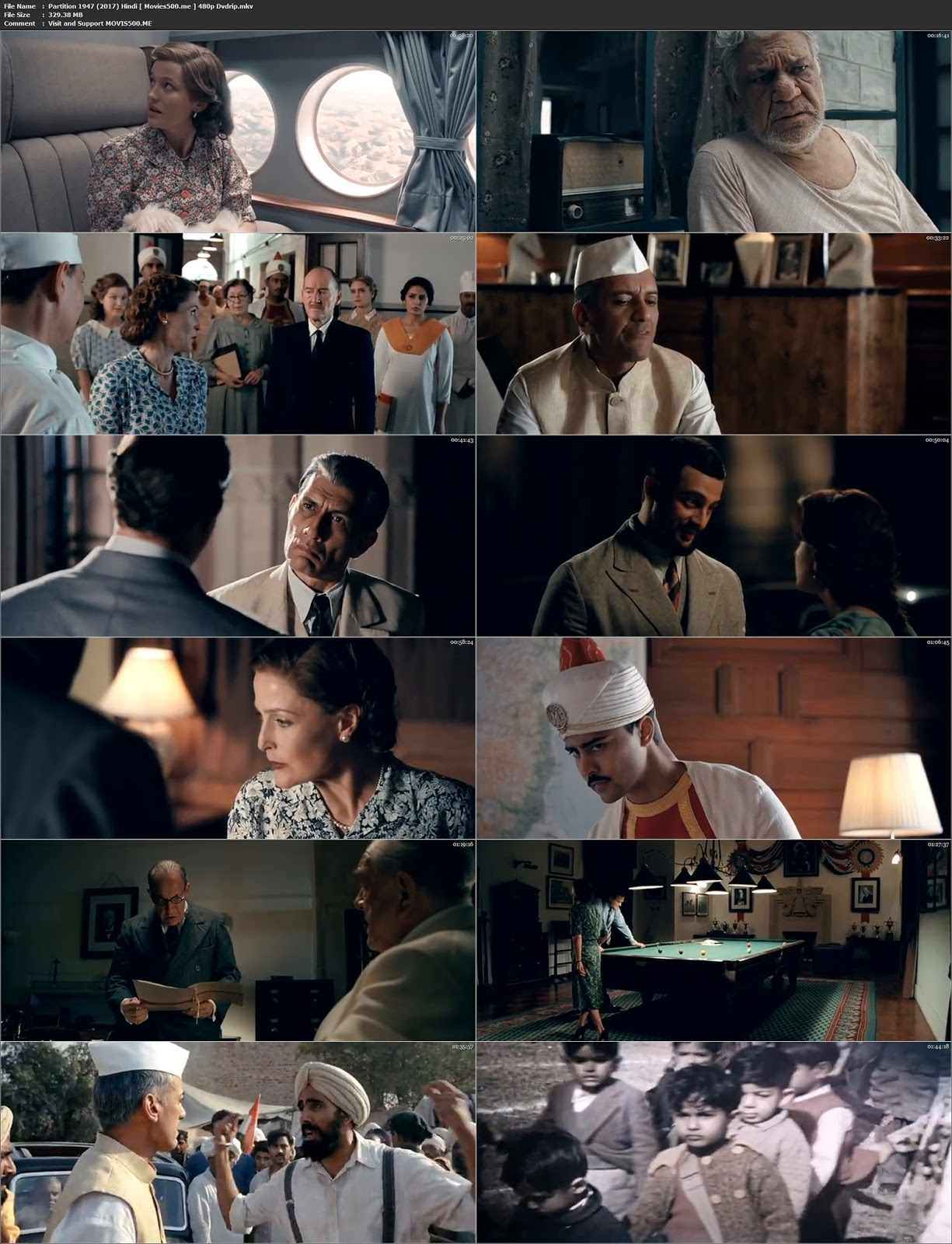 Partition 1947 2017 Bollywood 300MB Full DVDRip 480p at movies500.site